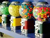 Chewing gum vending machines