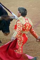 Spanish bullfighter Manuel Díaz ´El Cordobés´. Almagro, Ciudad Real, Castilla-La Mancha, Spain