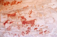 Bushmen cave paintings, Bushmans Kloof Wildlife Reserve, Clanwilliam, South Africa