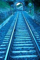 FEVE tracks. Valderredible. Cantabria. Spain.