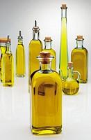 Oil bottles.