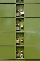 Outdoor locked mailboxes