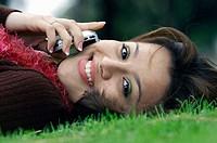 Hispanic girl with phone