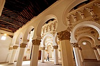 Synagogue of Santa María la Blanca, mudejar style built 12th century. Toledo. Castilla-La Mancha, Spain