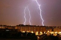 Lightning, storm.