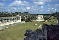 Ball court - Temple of the Bearded Man. This ball court is the largest one known of the Mayans where men played a game called pok ta pok. Chichen Itza...