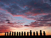 dawn at Ahu Tongariki, Rapa Nui (Easter Island, Isla de Pascua)