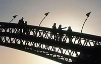 Walking bridge, Sporenburg, Amsterdam. Holland