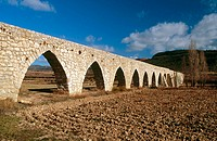 Alpuente Roman aqueduct. Los Serranos. Valencia. Spain.
