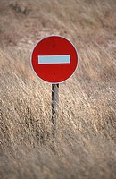 Road Sign In The Kalahari, South Africa