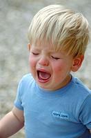 Close up of Toddler Boy Crying