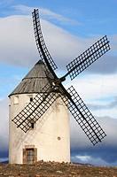 Windmill. Malanquilla. Zaragoza province. Aragón. Spain.