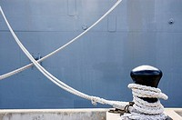 Ropes holding  USS Missouri battleship, Pearl Harbor, Oahu, Hawaii