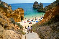 Portugal, Algarve, Lagos, Praia do Camilo (Camilo Beach)