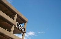 Parking garage with ´Arts´ sign. Bremerton, Washington, USA