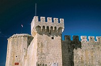 Outside the walls of Kamerlengo fortress. Trogir, central Dalmatia. Croatia