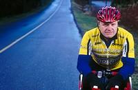 Portrait of mature cyclist