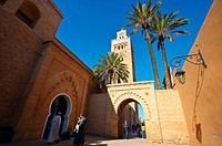 Koutoubia mosque. Marrakech. Morocco.