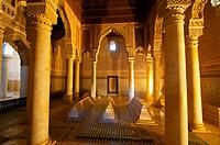 Saadian tombs. Royal necropolis (14th century) Marrakech. Morocco.
