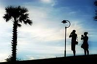 Tourists on the Darwin esplanade
