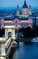 Chain Bridge, Budapest. Hungary