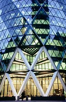 Swiss Re headquarters by architect Norman Foster, London. England, UK