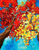 ´Autumn Trees´ Acrylic on canvas. Artist´s collection.