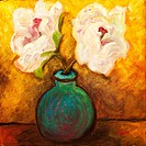 ´Two Flowers´ Acrylic on canvas. 2004. Private collection.