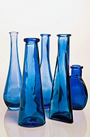 Five blue bottles
