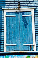 Blue wooden door, Canada; Lunenburg