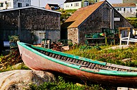 Old boat Peggy´s Cove, Nova Scotia; Canada