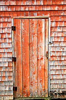 Wooden door, Peggy´s Cove, Nova Scotia, Canada