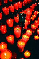 The photo of candles was taken in the Gothic Cathedral of Barcelona while having an excursion. In the center of the Barri Gòtic (Gothic district), the...