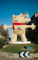 Cobi, official mascot of the 1992 Summer Olympics in Barcelona. Barcelona, Spain
