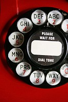 Old telephone dial.