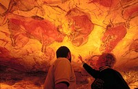 Bisons in Altamira´s reproduction cave (Neo Cave). Altamira museum. Santillana del Mar. Spain