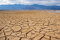 Mud cracks from dry lake bed in Death Valley National Park, California, USA