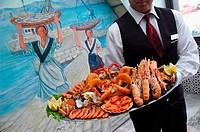 Carrusel de marisco en la Marisquería Bahía. Vigo. Spain.