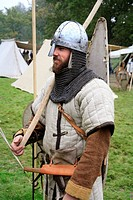 Soldier from Saxon Army 1066. Battle of Hastings England