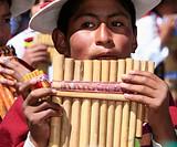 Flute Player, Chutillos Festival, Potosí. Bolivia
