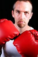 Portrait of a boxer.