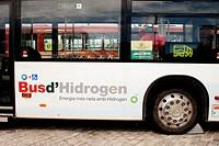 Hydrogen Fuel Cell Bus. Barcelona, Spain
