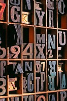 Type face and numbers