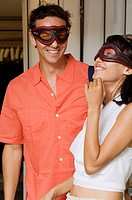 couple wearing mask