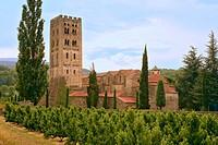Benedictine abbey of Saint-Michel de Cuxa. Prades. Pyrenees-Orientales, Languedoc Roussillon. France