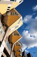 Cubic houses, pole dwellings by Piet Blom, Rotterdam, Holland, Netherlands