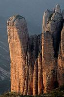Mallos de Riglos. La Hoya de Huesca. Huesca province, Aragón. Pyrenees Mountains, Spain