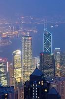 View from The Peak, Hong Kong, China.