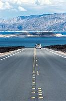 Road near Lake Mead, South East Nevada. USA.