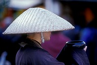 Monk begging, Japan